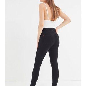 BDG twig seamed high-rise skinny jean - Black